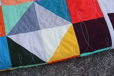 Cute simple free motion quilting
