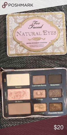 Two faced eyeshadow pallet Used a few times two faced Makeup Eyeshadow