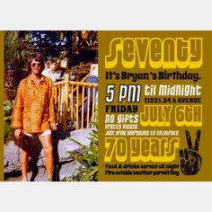 Dad's 70th birthday invite!