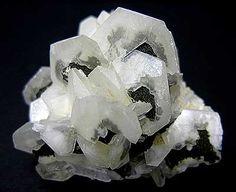 Calcite, 4.8 cm, from the Mt. Cleveland mine, Luina, Tasmania, Australia.  CK Minerals specimen and photo.