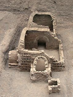 Archaeologists uncovered 10 tombs in the cemetery, seven of which are large structures made with bricks. This image shows part of the cemetery facing north [Credit: Chinese Cultural Relics] Ancient China, Ancient Art, Ancient History, Silk Road China, Achaemenid, Ancient Mysteries, Roman Empire, Image Shows, Historical Sites