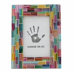 Indian Rainbow Glass Mosaic Picture Frame