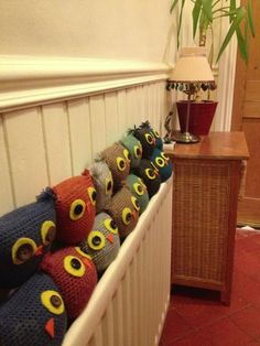 Custom order owl draught excluders I made
