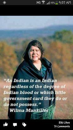 Willma Mankiller, Cherokee