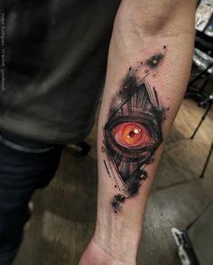 Watercolor eye by Felipe Rodrigues Fe Rod