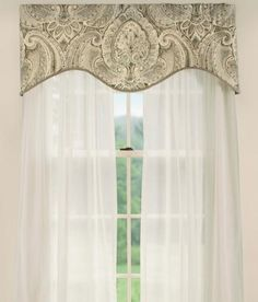 casablanca lined scalloped valance - Valances For Living Room