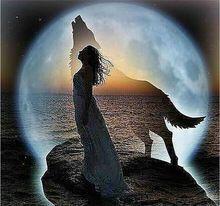 [Super deals] Nieuwe mozaïek vol gelegd diamanten schilderij borduurwerk kralen Celestial Wolf Moon Vrouw Dream diamanten kruissteek (China (vasteland))