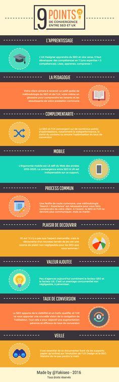#Infographie : 9 point de convergence entre #seo et #UX