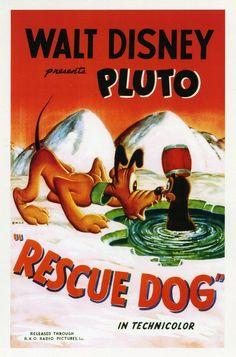 """Pluto in """"Rescue Dog"""" (1947)"""