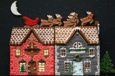 Worth Pinning: Gingerbread Houses  Do something different this year!