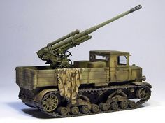 Voroshilovets Tractor mounting 52-K 85mm Air Defence Gun M1939