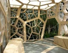 Bardzo fajna elewacja Eureka Pavilion by NEX.