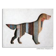 Dog Cut Out Wall Decor, Dog Walk Mini, Wood Silhouette, Reclaimed Eco Friendly…