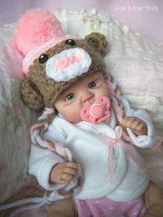 ❤ OOAK HAND SCULPTED REALISTIC NEWBORN BABY GIRL BY JONI INLOW* DOLLY-STREET❤