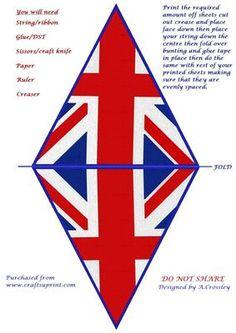 Union Jack printable bunting