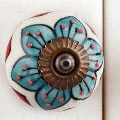 pour Placard//tiroir Style Floral Vintage Rouge Nicola Spring Poign/ée en c/éramique