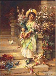 Louis Marie de Schryver,The flower seller