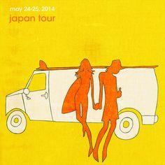 Japan – May 2014 - The works of Andy Davis Surf Drawing, Van People, Tropical Art, Surf Art, Surf Style, Medium Art, Screen Printing, Surfing, Sculptures