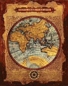 Resultado de imagen para mapamundi vintage para imprimir