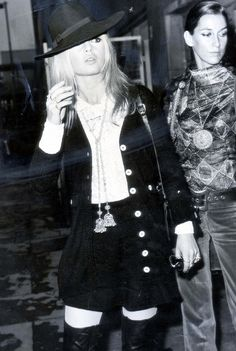 Brigitte Bardot pulled off the fedora and thigh-high boots even before our time. // #Celebrity