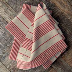 Stripe Linen Tea Towels