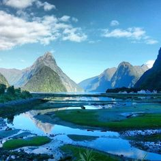 Milford Sound, New Zealand — by The Adventure is Calling. Arriving to this view it's clear why Milford Sound is the 8th Wonder of the World. Also known as 'Piopiotahi' in...
