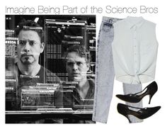"""Imagine Being Part of the Science Bros"" by xdr-bieberx ❤ liked on Polyvore featuring GUESS and Equipment"