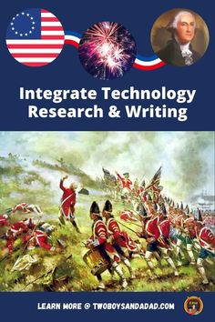 American history comes alive with this digital interactive notebook for Google Slides. It can supplement your lessons on the people, events and places of the American Revolution. Adaptable to in-person, hybrid model or distance learning situations. Students click on embedded links to websites and videos to research the timeline, maps, and battles of the Revolution. Use it as a short or long term project that can be self-paced for 3rd,4th, 5th grades. Discover and learn more! #twoboysandadad Teaching American History, Math Coach, Research Writing, 21st Century Learning, American Symbols, Education System, Learning Tools, American Revolution, Interactive Notebooks