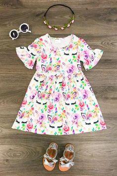 c0ed8a4673e4 Floral Unicorn Dress. Floral Unicorn Dress Unicorn Dress Girls