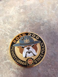 Pennsylvania State Police Road Dog Police Challenge Coins, Law Enforcement Badges, Police Badges, State Police, Firefighting, Useful Life Hacks, Thin Blue Lines, Service Dogs, Psp