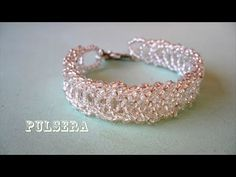 DIY - Preciosa pulsera de mostacillas DIY - Beautiful bracelet of beads - YouTube