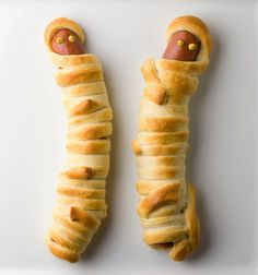 Hot Dog Mummies!  Just in time for Halloween.  :)