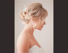 Coiffure de mariage cheveux courts 2014
