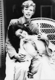 Two of my all time faves...David Bowie and Elizabeth Taylor, 1975.