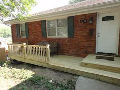 Front Porch with steps - without railing