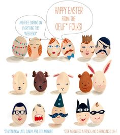 I'm in love with the egg illustrations by Oeuf!