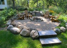 Fire Pit Ideas - Backyard fire pitis one of the most well-known outdoor design trends these days. With good reasons that they are a unique, warmth, and laid-back element to any outdoor area. Fire Pit Area, Fire Pit Backyard, Backyard Patio, Backyard Landscaping, Backyard Seating, Fire Pit Landscaping Ideas, Fire Pit Near Deck, Fire Pit In Garden, Outdoor Fire Pits