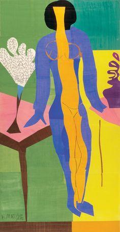 Henri Matisse (French, 1869-1954), Zulma, 1950. Gouache on paper cut-out, 248 x 133 cm