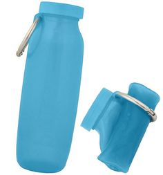 This water bottle is great because when it's empty you  can fold it up and put it in your pocket or purse. Bubi Bottle, $25 22-fl oz metal loop keeps it scrunched, BPA-free, mold-resistant silicone, genus foldable flask!