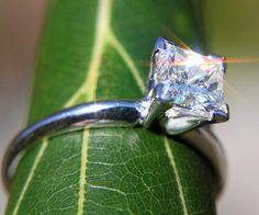 GIA CERTIFIED Princess Cut Solitaire  1.00 carat by BeautifulPetra, $5,550.00