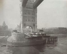 Tower Bridge London England - Testing of the Bascules in 1894