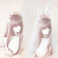 Estilo japonés dulce Lolita hechos a mano Headwear lindo arco conejo oreja de gato Cosplay oído de conejo diadema accesorio del partido