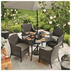 Casetta Patio Dining Furniture Collection  Target Home™ Casetta Patio Dining Furniture Collection  $125.00 - $399.00  Reg: $125.00 - $499.00  Outdoor living just got more stylish. The Casetta dining collection from Home includes chairs, a tableeven a patio umbrella. Sturdy and durable, the all-weather wicker chairs are water repellent, spill resistant and fade resistant. The aluminum slat-top table resists rust, so it will look great for years to come.