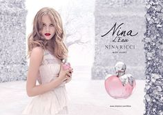Frida Gustavsson in advertising Nina Ricci ,Nina L'Eau
