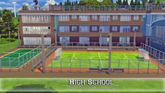 I'm building a school in the sims right now too. Sims 4 Teen, My Sims, Die Sims 4 Packs, Sims 4 House Plans, Muebles Sims 4 Cc, The Sims 4 Lots, Sims 4 House Design, Casas The Sims 4, Sims Building