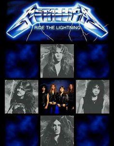 Metallica: Ride the Lightning Metallica Album Covers, Metallica Albums, Heavy Metal Art, Heavy Metal Bands, Master Of Puppets, Ride The Lightning, James Hetfield, Sound & Vision, Band Photos