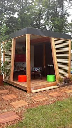 Amazing Shed Plans - Abri de jardin KUBHOME : Greenhouses pavilions by EXTAZE OUTDOOR Now You Can Build ANY Shed In A Weekend Even If You've Zero Woodworking Experience! Start building amazing sheds the easier way with a collection of shed plans! Garden Gazebo, Backyard Patio, Backyard Landscaping, Outdoor Pergola, Backyard Privacy, Backyard Sheds, Pergola Plans, Balcony Garden, Gazebo Pergola