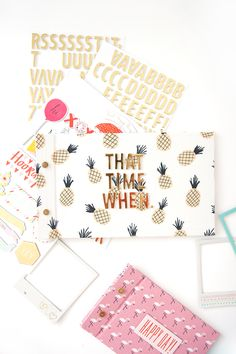 Loving this easy DIY Fabric Scrapbook Journal for all the senior year memories!