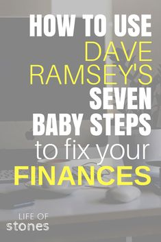 Fix your finances using Dave Ramsey's 7 baby steps! This system changed our entire life! We paid off a ton of debt and are saving money now! Read all the details to see how it works! Debt-free, payoff debt, get out of debt, financial freedom, financial peace, Dave Ramsey ideas, debt snowball, budget #daveramsey #babysteps