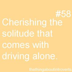 The solitude of driving alone